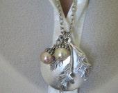 Autumn Moon Locket, Oak Leaf Locket, Acorn Locket, Oak Jewelry, Oak Leaf, Silver Locket, Acorn, Moon