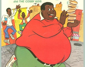 1973 Fat Albert & The Cosby Kids Fun Book Coloring Book Mint Unused New Old Stock TV Show