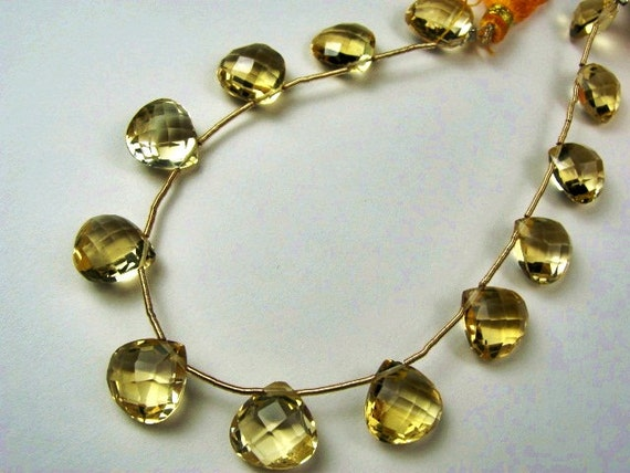 Citrine  Drop Gemstones,  16-19mm , Heart Briolette Drop. Sold Individually. (JCIT). Reduced from 10.60