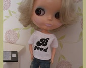 "Blythe white shirt ""B good"""