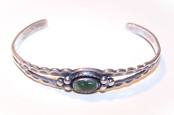 Child's Native American/Southwest STERLING SILVER & Turquoise Cuff Bracelet.....