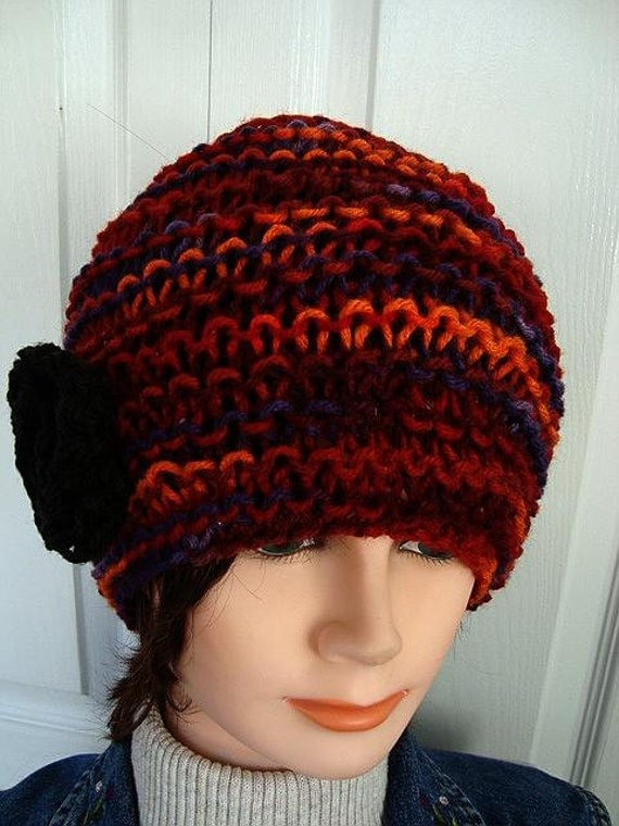 Knitted Beanie Patterns For Adults : Knitting PATTERN Hat Easy Knit Beanie Knitting and