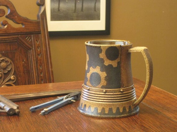 Coffee Stein with Gears