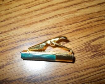 REMINGTON SHOTGUN Shell TIECLIP Vintage Goldtone Brooch Pin
