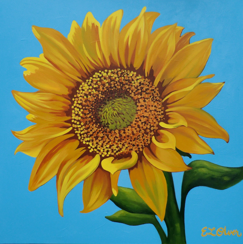 Eleletsitz Sunflower Acrylic Painting Images