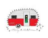 Christmas Camper - Retro Christmas Card