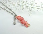 Bacon Necklace - Food Jewelry Necklace (Bacon N1)