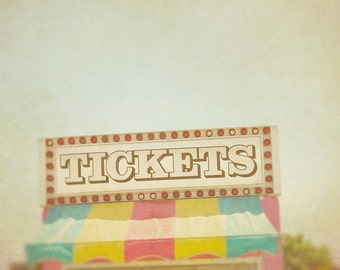 BUY 2 GET 1 FREE Carnival Photo, Tickets, fpoe, Rainbow, fpoe, Nursery Art, Vintage Inspired, Summer, Yellow, Pink- County Carnival