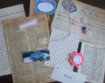 Mixed ephemera paper kit for art journals, scrapbooks, card making
