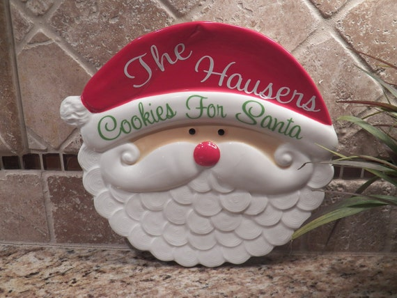 Personalized Cookies For Santa Plate With Your By Polkadotsmg