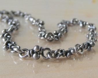 Nudos Knots Bracelet, Handmade Chain, Link Silver Bracelet, Links Chain, Organic Oxidized Jewelry, Linked Bracelet, Rustic Bracelet