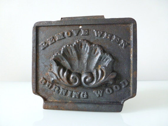 Cast Iron Wood Stove Plate