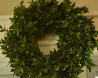 "Fresh 10-12"""" Inch Boxwood Wreath, Christmas centerpiece, small wreath"