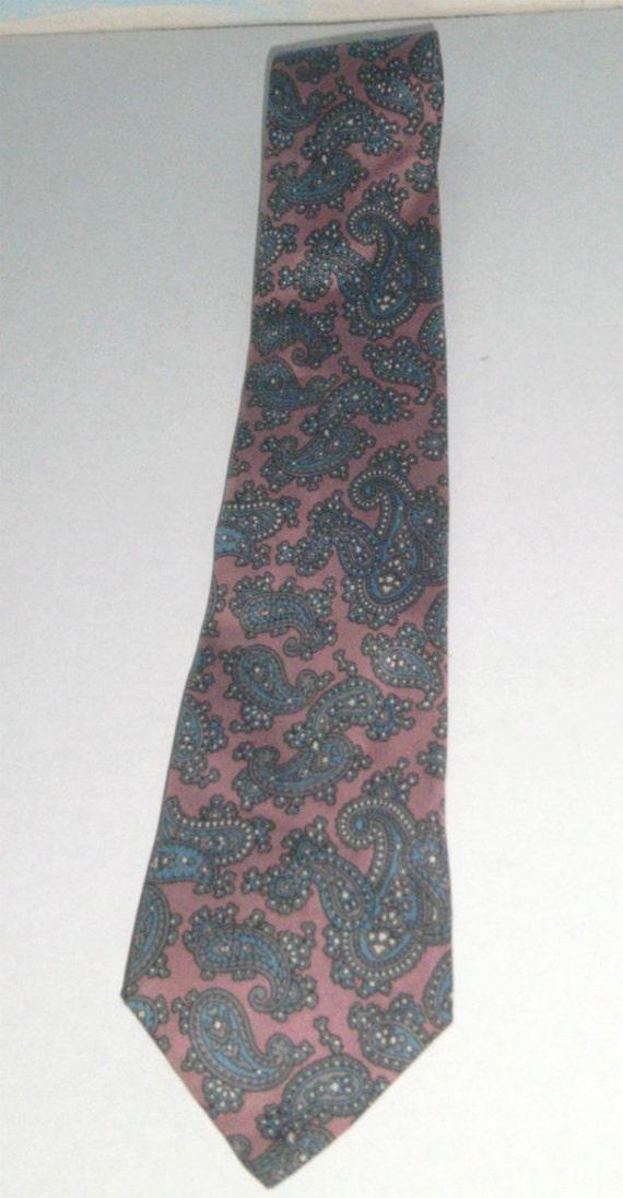 vintage mens tie kenneth designer tie pink and