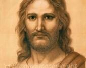 Christ - Jesus - protrait- print- 5 x7 - Sale 50% Off