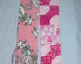 Breast cancer scarf with cats