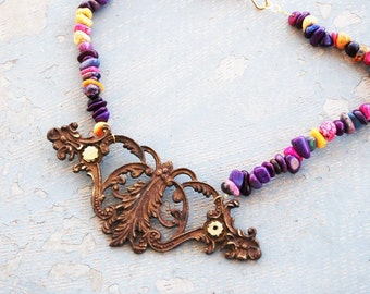 Turquoise Necklace - Candy Colored Turquoise - Antique Hardware Collection
