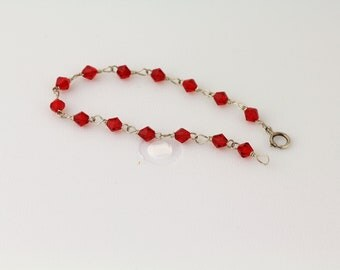 Red Crystal Girl's Bracelet. Listing 111170941