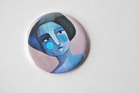 Pocket mirror blue girl