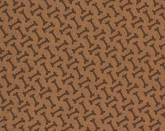 Basicgrey for Moda, Max and Whiskers, Bones in Fur (Brown) (30259-16) -1/2 Yard