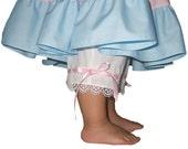 Bo Peep Pantalettes, Heirloom Clothing Venice Lace, Satin Ribbons, baby, girls, size 12 mo to 8, Original Design