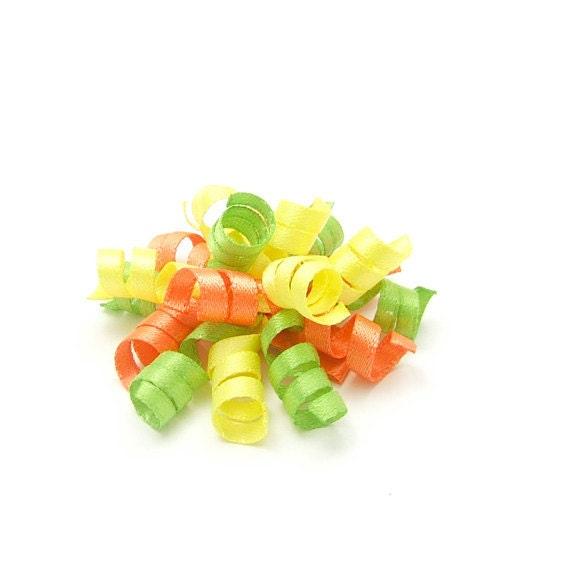 Citrus Mini Korker, Citrus Korker Bow, Mini Korker Barrette, Lemon Lime Tangerine Baby Toddler Girl