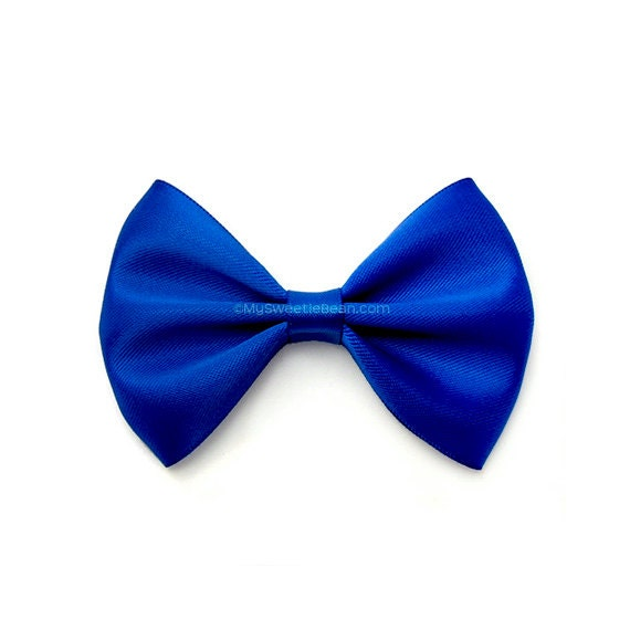 Royal Blue Hairbow Bow Tie Hair Bow 3 Inch Satin Bow Basic