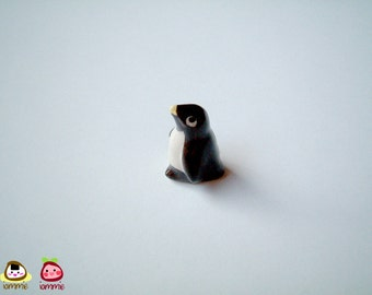 Mini Penguin Figure, ceramic penguin, miniature ceramic penguin, ceramic animal, miniature ceramic animal, penguin figurine