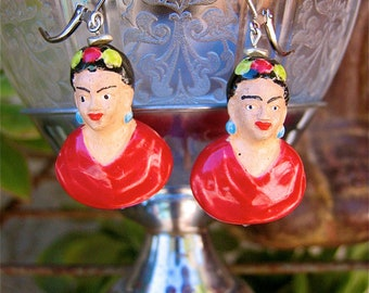 FRIDA KAHLO Ceramic bead earrings -   Perfect for your loved one this holiday season