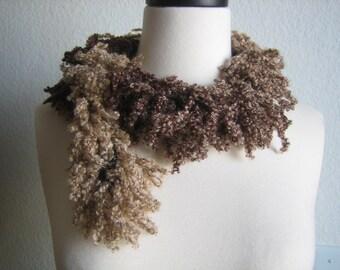 SHORT/ MINI ,Oh la la scarf, brown shades, fabulous, for her,  accessory, new