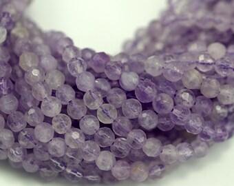 Lavender Amethyst 4 Mm Disco Faceted Gemstone Beads Full Strand G1