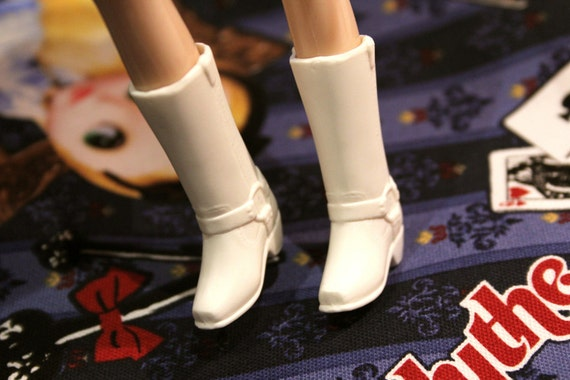 Blythe White Harness Cowgirl Boots