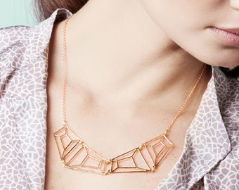 Stone Silhouette Necklace in Gold