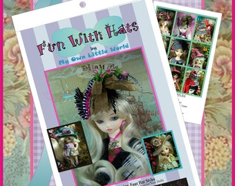 PDF Version - Fun With Hats - Pirates and More - Pattern for BJD Dolls Sizes 3/4, 5/6, 7/8, 8/9 and 9/10 Blythe, Pullip, Dal