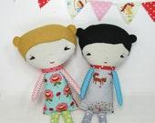 Eco Baby Doll - girl. Handmade, Eco Friendly, Baby Doll, Organic, Nursery, Gift