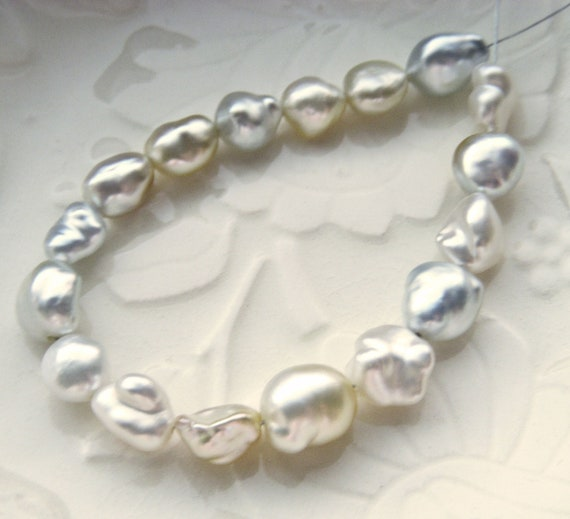 X-Large South Sea Keishi Pearls - Platinum and Golden