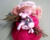 Guardian Angel Felted Wool Ornament