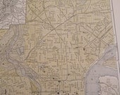 1903 City Map Philadelphia Pennsylvania - Vintage Antique Map Great for Framing 100 Years Old