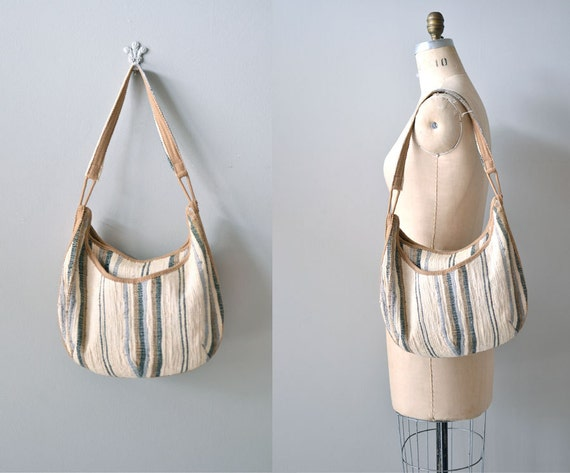 vintage 1970s bag / woven bag / Natural Texture shoulder bag