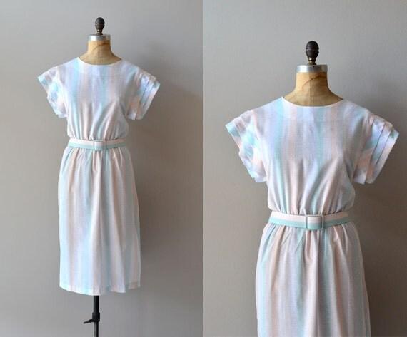 1970s dress / 80s dress / Confectionery Stripe dress