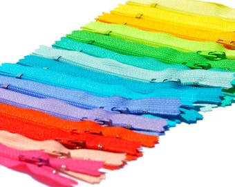"3"" Doll Zippers 15 zippers YKK # 3 Assortment of Colors  - Closed End~ZipperStop Wholesale Authorized Distributor YKK®"