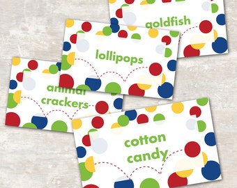 Bouncy Ball Birthday Jar Labels (set of 8) PRINT & SHIP | Paper and Cake