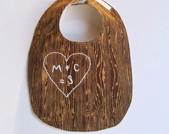 Personalized Baby Bib - AS SEEN In the Huffington Post- Organic Baby Bib - Hand Embroidered- New Baby Gift