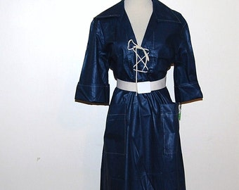 SALE.......Vintage Dress Navy Sailor 70s