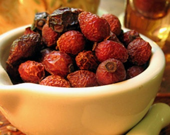 Organic Rose Hips 5 ounce whole dried rose hips for potpourri jelly jam and tea making