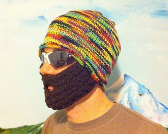 Neon Party Bearded Beanie - Ships Free