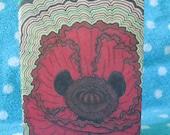 Oops- Poppy Ripple- Sm Moleskine Cahier- Original Illustration