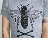 men's bee t-shirt sizes s, m, l, xl