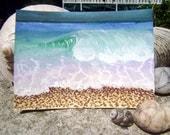 ACEO Ocean Wave Beach Original Watercolor Painting