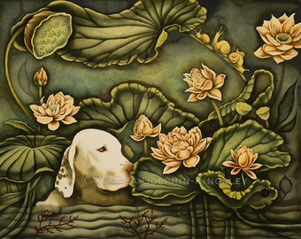 "Otis in the Garden Giclée by Kamala Dolphin-Kingsley - 16""x20"""